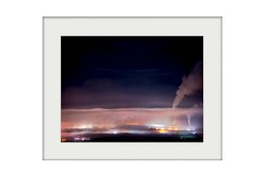 Clitheroe at Night | Mounted Print