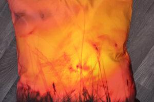 Sunset Burning Throw Pillow