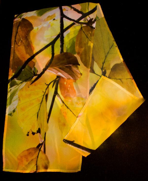 Coloured Leaves | Chiffon Scarf