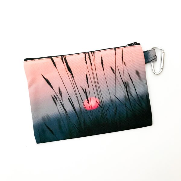 Canvas Cosmetic Bag | Sunset Reeds