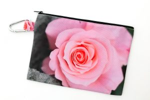 Canvas Cosmetic Bag | Pink Rose