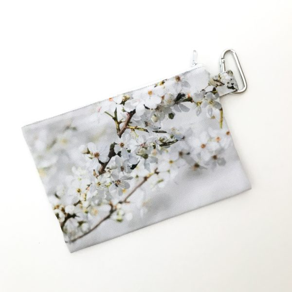 Canvas Cosmetic Bag | Cherry Blossoms