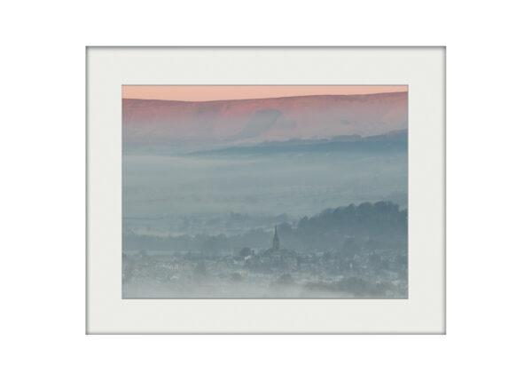 Clitheroe Winter Dawn | Mounted Print
