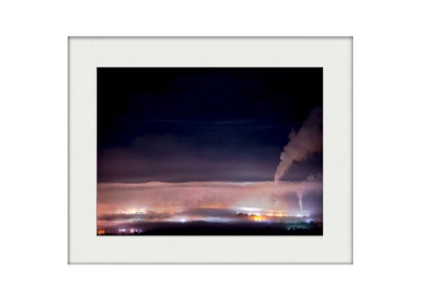 Clitheroe at Night | Mounted Print