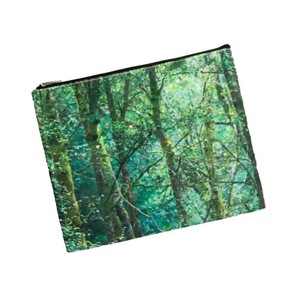 Cosmetic Bag Mockup – Emerald Trees