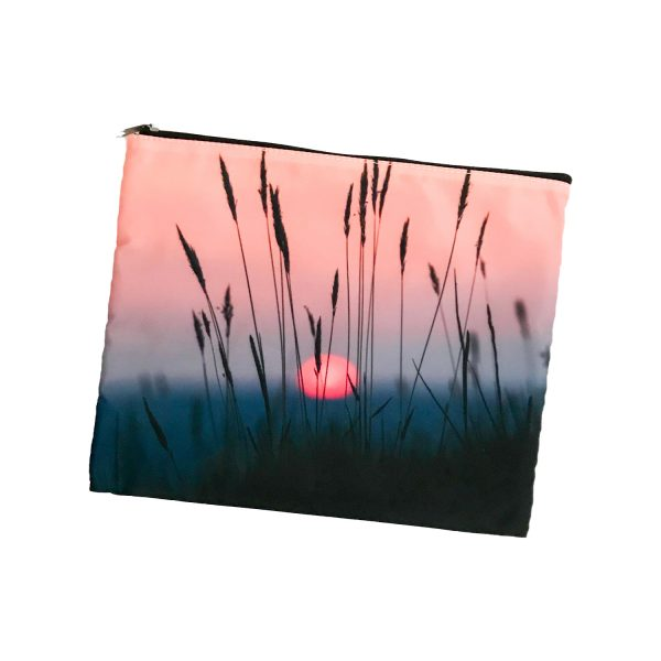 Cosmetic Bag Mockup – Pink Sunset