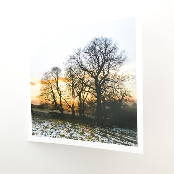 Greeting Card   Winter Gold