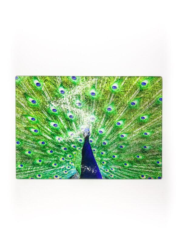 Peacock | Glass Chopping Board