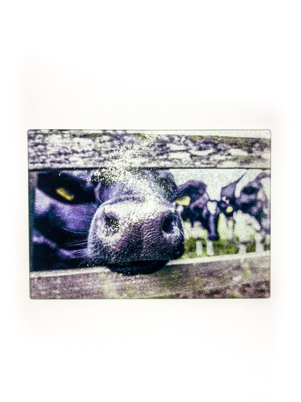 Nosy Cow | Glass Chopping Board