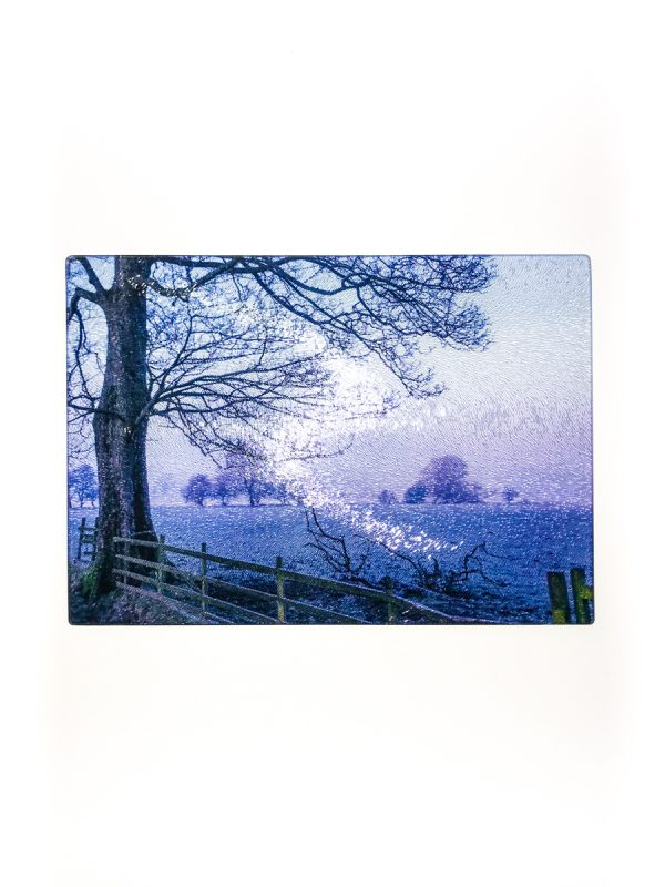 Blue Dawn | Glass Chopping Board