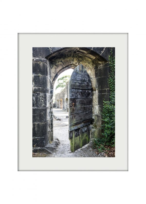 Abbey Gate Mounted Print
