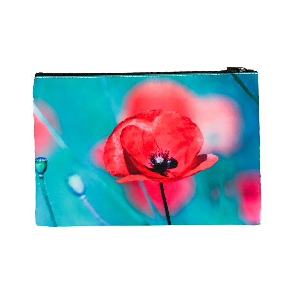 Cosmetic Bag Mockup – Poppies