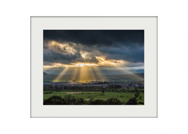 Spotlight on Clitheroe Mounted Print