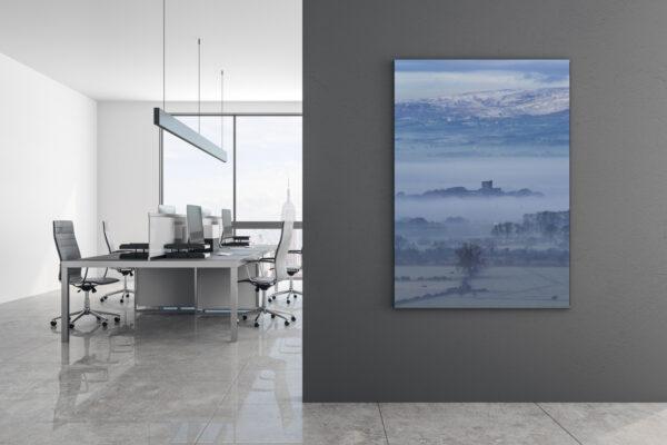 Clitheroe Castle in Fog Mockup