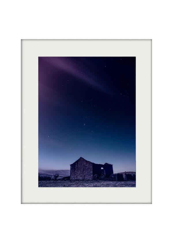 Barn with Starry Nighsky A3 Mockup